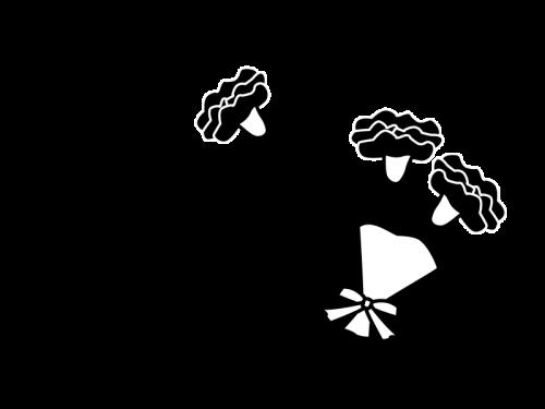 5月タイトル母の日のカーネションの白黒イラスト かわいい無料の白黒
