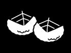 桜餅・道明寺の白黒イラスト