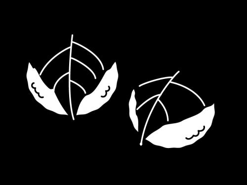 桜餅・道明寺の白黒イラスト02