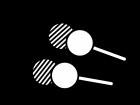 三色団子の白黒イラスト