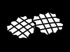 ワッフルの白黒イラスト