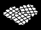 ワッフルの白黒イラスト02