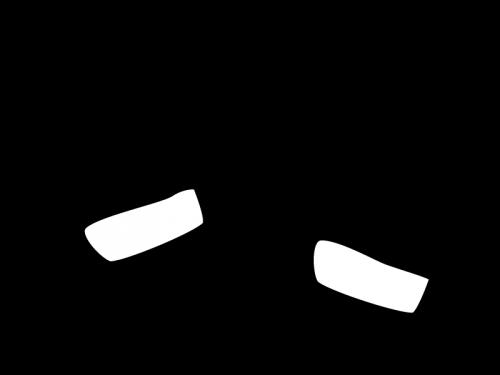 毛糸の手袋の白黒イラスト02