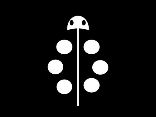 てんとう虫の白黒イラスト02