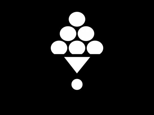 お月見団子の白黒イラスト