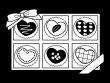 箱入りのバレンタインチョコの白黒イラスト04
