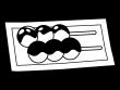 和菓子・お団子(あんこ・みたらし)の白黒イラスト02