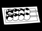 和菓子・みたらし団子の白黒イラスト02