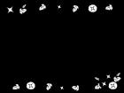 朝顔(あさがお)のフレーム・枠の白黒イラスト