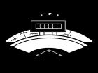 野球場・スタジアムの白黒イラスト