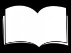 本のフレーム・枠の白黒イラスト02