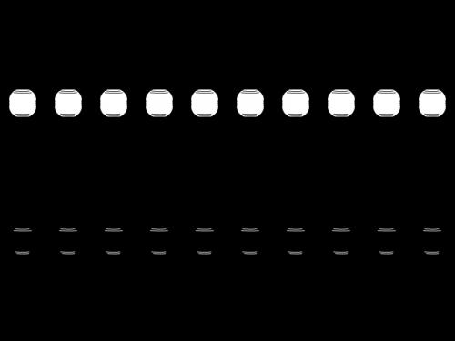 提灯のライン・罫線の白黒イラスト02