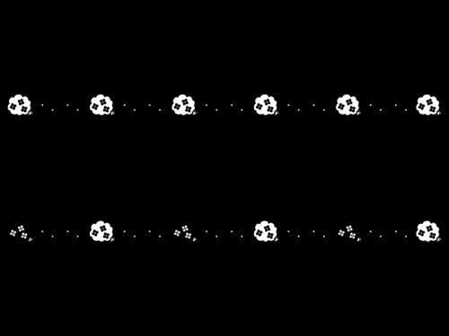 紫陽花(あじさい)のライン・罫線の白黒イラスト