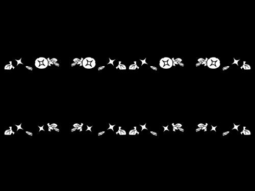 朝顔(あさがお)のライン・罫線の白黒イラスト
