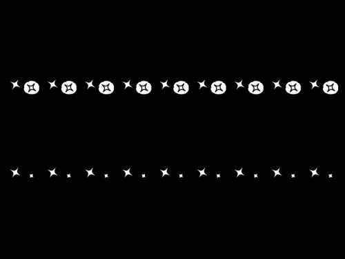 朝顔(あさがお)のライン・罫線の白黒イラスト02