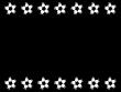 サッカーボールのフレーム・枠の白黒イラスト