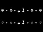 ひな祭りのライン・罫線の白黒イラスト02