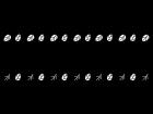 葉っぱのライン・罫線の白黒イラスト
