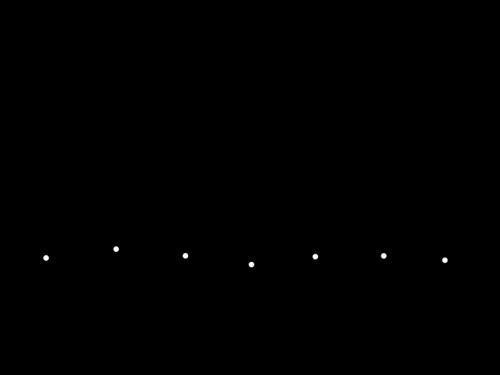 音符のライン・罫線の白黒イラスト02
