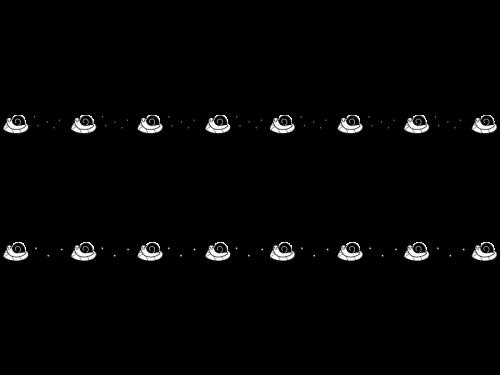 梅雨・カタツムリと紫陽花のライン・罫線の白黒イラスト