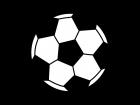 サッカーボールの白黒イラスト