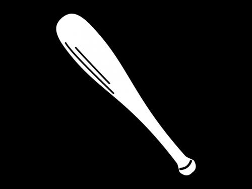 野球のバットの白黒イラスト