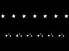 星のライン・罫線の白黒イラスト02