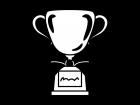 トロフィー・優勝カップの白黒イラスト02