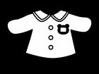 園児服の白黒イラスト02