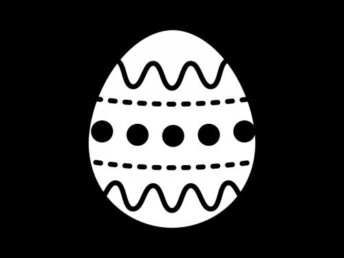 イースターエッグの白黒イラスト03