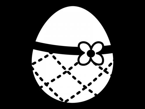 イースターエッグの白黒イラスト04