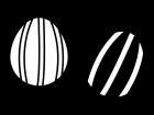 イースターエッグの白黒イラスト06