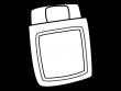 布団の白黒イラスト02