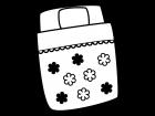 布団の白黒イラスト03
