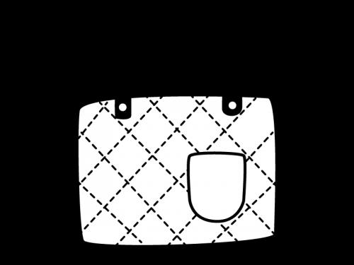 レッスンバッグの白黒イラスト
