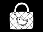 レッスンバッグの白黒イラスト02