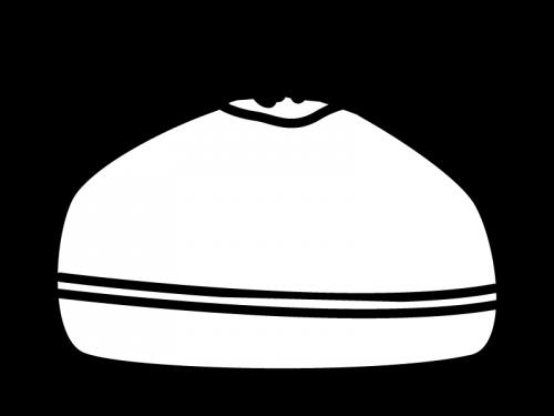 お弁当袋の白黒イラスト