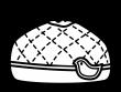 お弁当袋の白黒イラスト02