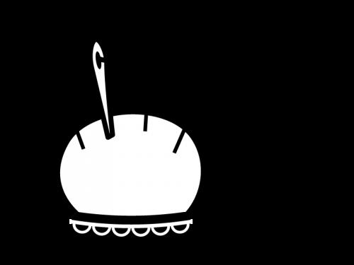 針山の白黒イラスト02
