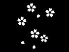 春・桜の白黒イラスト02
