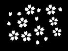 春・桜の白黒イラスト03