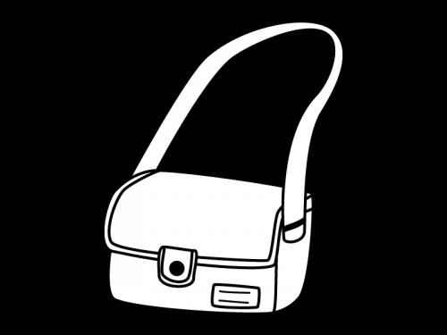 通園バッグの白黒イラスト