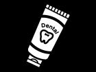 歯磨き粉の白黒イラスト