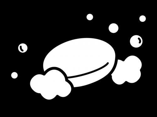 石鹸の白黒イラスト02