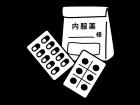 処方箋・錠剤の薬の白黒イラスト02