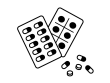 錠剤の薬の白黒イラスト02