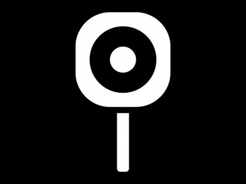 丸の札の白黒イラスト