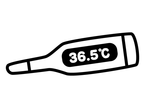 体温計の白黒イラスト