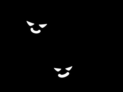 バイ菌の白黒イラスト