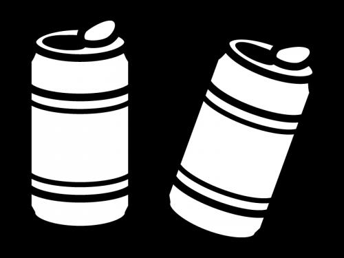 缶ジュースの白黒イラスト